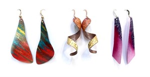 Earrings - Assorted Hand-painted Paper Designs