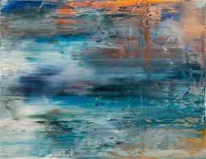 Orange/Blue Abstract, 2018