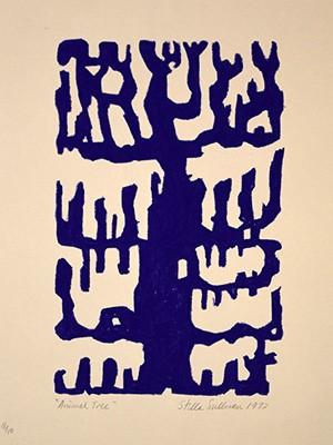 Animal Tree - Indigo