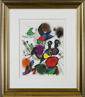 """Original Lithograph II from """"Miro Lithographs III, Maeght Publisher"""" by Joan Miro"""
