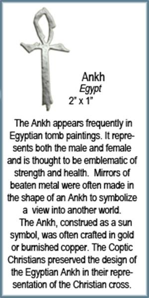 Pendant - Silver Ankh 9291, 2019
