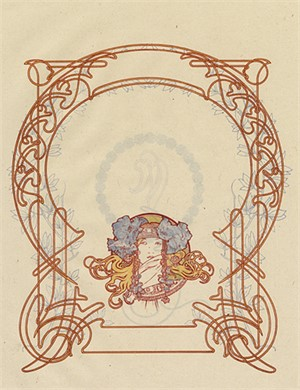 "From Ilsee, Princess of Tripoli Recto: ""Title Page"" Verso: ""Art Nouveau Motif"", 1897"