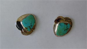 Sterling Campitos Turquoise Clip Earring