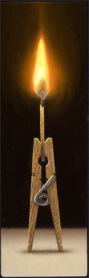 Clothespin Flame