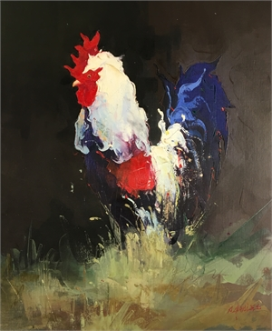 ROOSTER WALKING LEFT by P CHARLES
