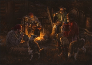 "RUSSELL SMITH, ""Campfire Beggars"""