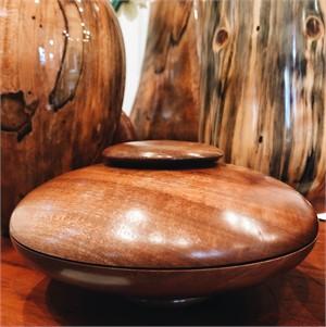 Bishops Wood & Walnut Turned Wood Box 2017-1