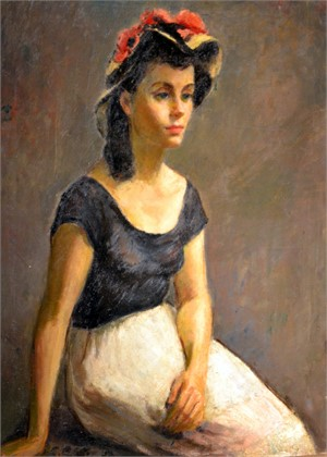 Girl in the Green Hat, 1957