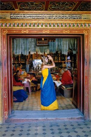 Outer Mongolia: Prayer at the Gandan Monastery in Ulan Bator (Edition 12/100), 1966