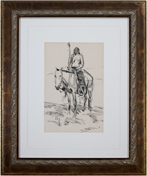 Indian on Horse, 2012