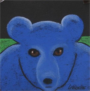 Blue Bear Cub - SOLD available for commission