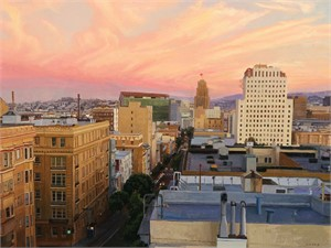 Sunset over the Tenderloin
