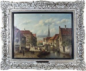 Town Scene, 19th Century
