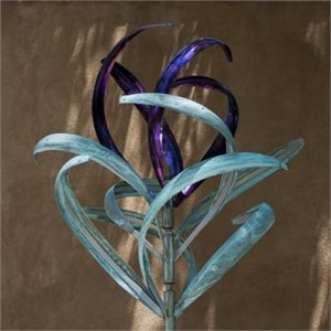 "Iris 3 Bud Top Color Patina 26""x22""x86"""