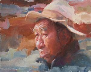 """MATT M LINZ, OPA, """"Tibetan Man"""""""