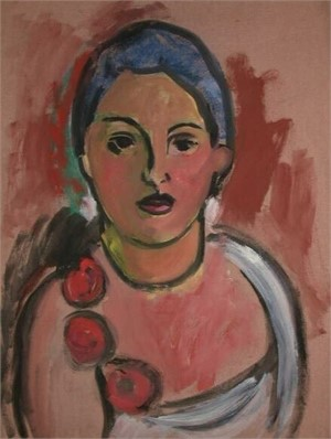 Woman with Roses by Anna Walinska