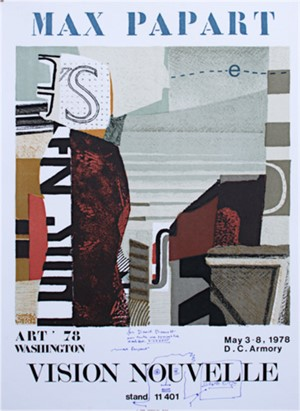 Max Papart- Vision Nouvelle, signed and inscribed, 1978