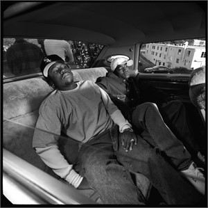 93125 Outkast In the Car BW, 1993