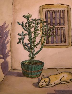 Cactus & Dog, c. 1930