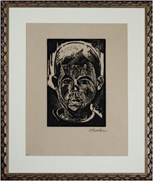 Head of a Boy/Kopf des Jungen by Max Pechstein