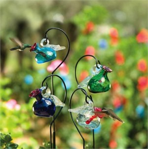 Hummingbird Feeder - Pixie Stake Assorted Color