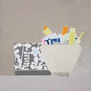 Still Life with Packets and Box