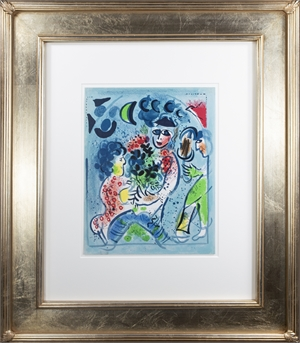 """Frontispiece of """"Chagall Lithographe III,"""" M 578 (Edition of 10,000), 1969"""