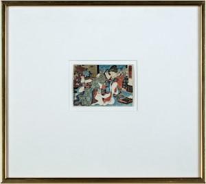 Lovers of Okazaki, c1850