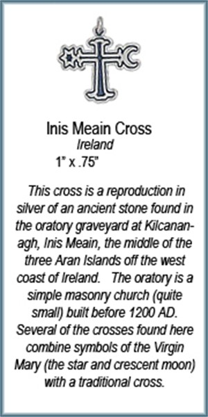 Pendant - Inis Meain Cross - 7348, 2019