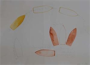 Untitled Three Orange/One Yellow boats, 2010