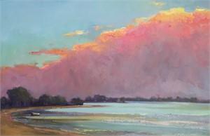 Sun Setting on the Cloud by Linda Richichi