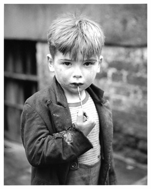 No. 214 Boy with Drill Bit, Liverpool, England, 1951