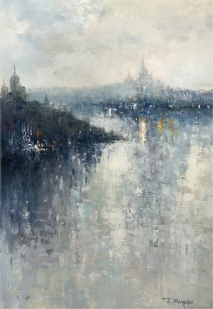 CITY ACROSS THE WATER by J MORGAN