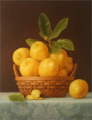 Lemons & Blue Cloth