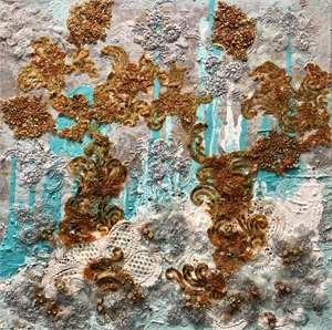 Tiffany Blue with Gold, 2019
