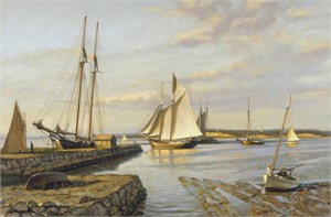 Commercial Wharf, Nantucket, Looking Over Toward Shimmo 1896