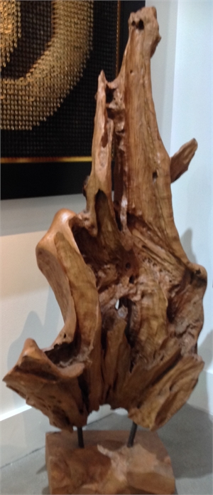 Teakwood Sculpture, 2019