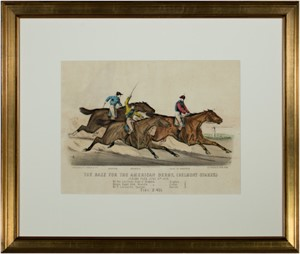 The Race for the American Derby, (Belmont Stakes.), 1878