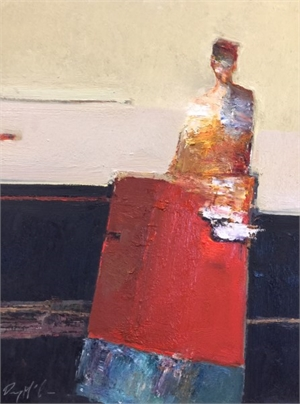 Figure Seated at Red Table