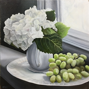 Hydrangea with Grapes