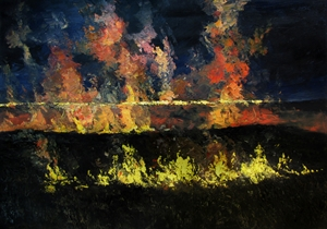 Wabaunsee Night Fire #3 by James Pringle Cook