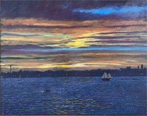 Afterglow - Gloucester Harbor