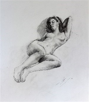 Study for Reclining Nude, 2015