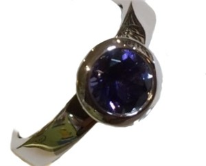Ring-Stackable Sterling Silver with Iolite/size 7