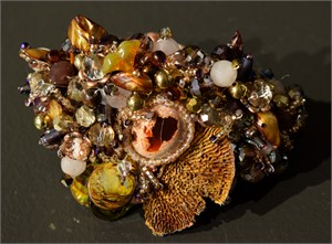 Brown Abalone with Fungus bracelet