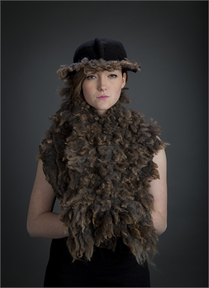 """Counting Brown Sheep Vest """"O/S"""" by Marti Liddle-Lameti"""