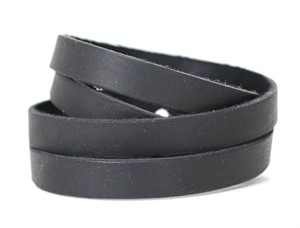 Leather Split Wrist Wrap - Black  RU34
