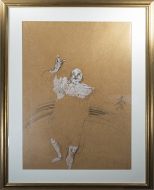 Clown, on butcher like paper, 1969