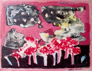 Landscape Red Fantasy