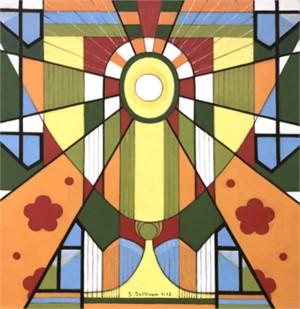 Eye of God (orange, green, yellow)